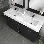 Alya Bath Ripley Modern 56 inch Double Bathroom Vanity, Black 3