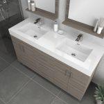 Alya Bath Ripley Modern 56 inch Double  Bathroom Vanity, Gray 2