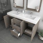 Alya Bath Ripley Modern 56 inch Double  Bathroom Vanity, Gray 4