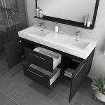 Alya Bath Ripley 54 inch Wall Mounted Bathroom Vanity, Black 4