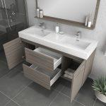 Alya Bath Ripley 54 inch Wall Mounted Bathroom Vanity, Gray 4