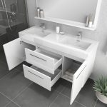Alya Bath Ripley 54 inch Wall Mounted Bathroom Vanity, White 4