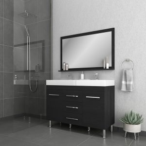 Alya Bath Ripley 48 inch Double Bathroom Vanity, Black