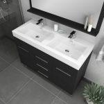 Alya Bath Ripley 48 inch Double Bathroom Vanity, Black 3