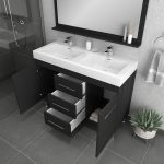 Alya Bath Ripley 48 inch Double Bathroom Vanity, Black 4