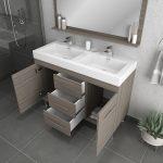 Alya Bath Ripley 48 inch Double Bathroom Vanity, Gray 4