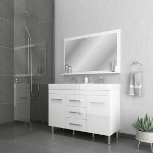 Alya Bath Ripley 48 inch Double Bathroom Vanity, White