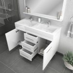 Alya Bath Ripley 48 inch Double Bathroom Vanity, White 4