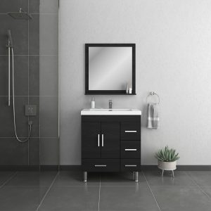 Alya Bath Ripley 30 inch Bathroom Vanity with Drawers, Black