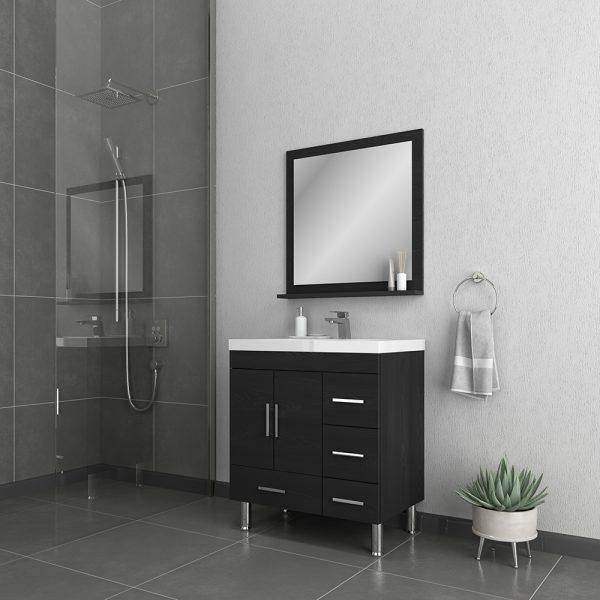 Alya Bath Ripley 30 inch Bathroom Vanity with Drawers, Black