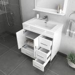 Alya Bath Ripley 30 inch Bathroom Vanity with Drawers, White 4