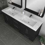 Alya Bath Ripley Modern 67 inch Double Bathroom Vanity, Black 3