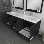 Alya Bath Ripley Modern 67 inch Double Bathroom Vanity, Black 4