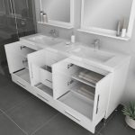 Alya Bath Ripley Modern 67 inch Double Bathroom Vanity, White 4
