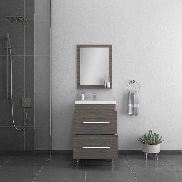 Alya Bath Ripley 24 inch Modern Bathroom Vanity, Gray