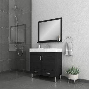Alya Bath Ripley 36 inch Modern Bathroom Vanity, Black