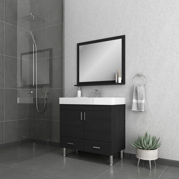 Alya Bath Ripley 36 inch Modern Bathroom Vanity, Black