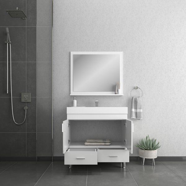 Alya Bath Ripley 36 inch Modern Bathroom Vanity, White