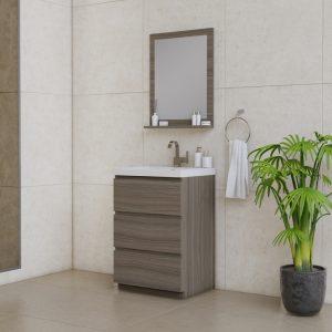 Alya Bath Paterno 24 inch Modern Bathroom Vanity, Gray