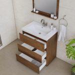 Alya Bath Paterno 30 inch Modern Bathroom Vanity, Rosewood 5