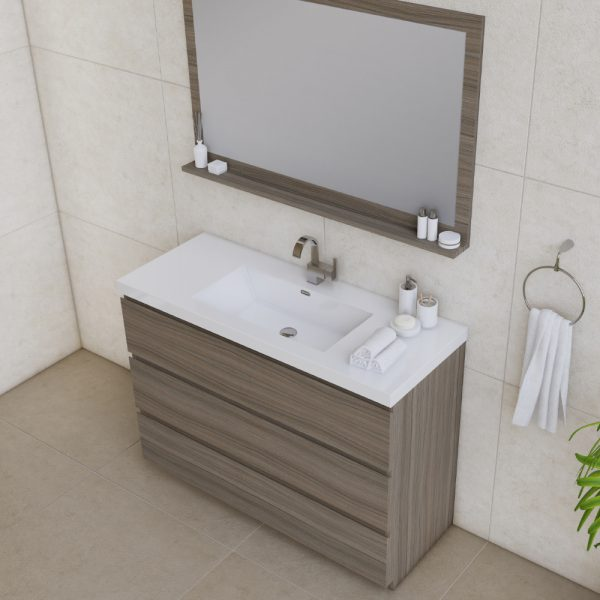Alya Bath Paterno 48 inch Modern Bathroom Vanity, Gray