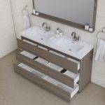 Alya Bath Paterno 60 inch Double Bathroom Vanity, Gray 4