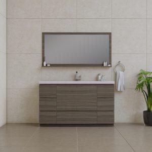Alya Bath Paterno 60 inch Single Bathroom Vanity, Gray