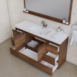 Alya Bath Paterno 60 inch Single Bathroom Vanity, Rosewood 4