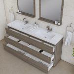 Alya Bath Paterno 72 inch Double Bathroom Vanity, Gray 3