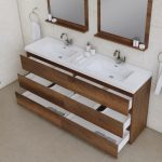 Alya Bath Paterno 72 inch Double Bathroom Vanity, Rosewood 3