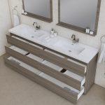 Alya Bath Paterno 84 inch Double Bathroom Vanity, Gray 5