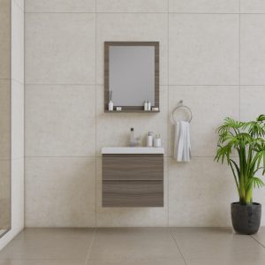 Alya Bath Paterno 24 inch wall mount bathroom vanity